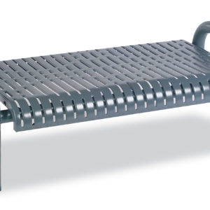 4 foot or 6 foot Outdoor Bench without Back - Contemporary Series - Inground
