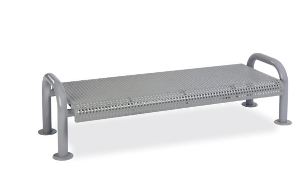 4 foot or 6 foot Outdoor Bench without Back - Contemporary Series - Portable/Surface Mount