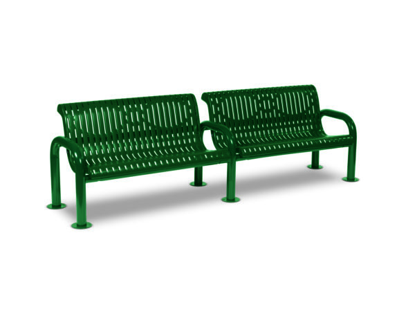 8 foot Outdoor Bench with Back - Contemporary Series - Portable/Surface Mount