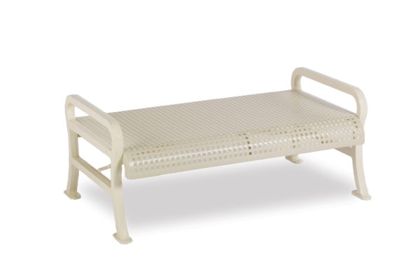4 foot & 6 foot Outdoor Benches without Back - Courtyard Series - Portable/Surface Mount