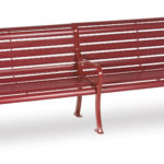8 foot Outdoor Bench with back - Courtyard Series - Portable/Surface Mount