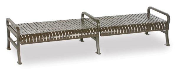 8 foot Outdoor Bench without back - Courtyard Series - Portable/Surface Mount