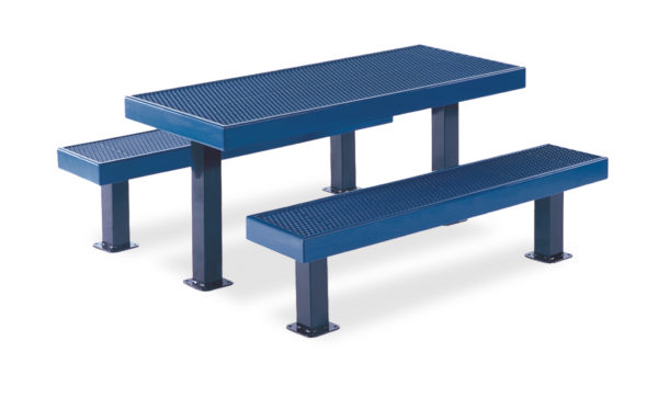 Rectangular 6 foot & 8 foot Picnic Table – Designer Series
