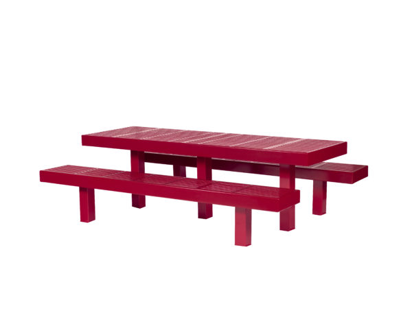 Rectangular 8 foot Picnic Table w/ Center Leg – Designer Series