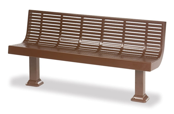 Outdoor Bench with Back - Designer Series
