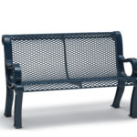 4 foot and 6 foot Outdoor Bench with Back - Estate Series