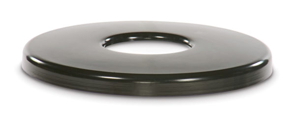 Outdoor Trash Receptacle Lid - 22 or 32 Gallon Receptacle Lid - Flat Top - Classic Collection Accessory
