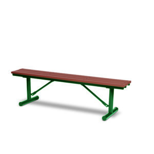 6 foot Outdoor Benches without Back - Green Valley