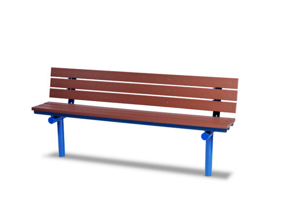 6 foot Outdoor Benches with Back - Green Valley