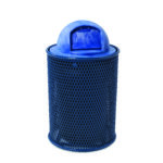 Plastisol Coated Outdoor Trash Receptacles - Classic Collection