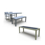 Outdoor Bench Seat - 4 Legged - Green Valley