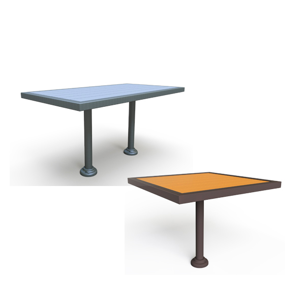 Outdoor Pedestal Dining Tables – Green Valley – Surface Mount