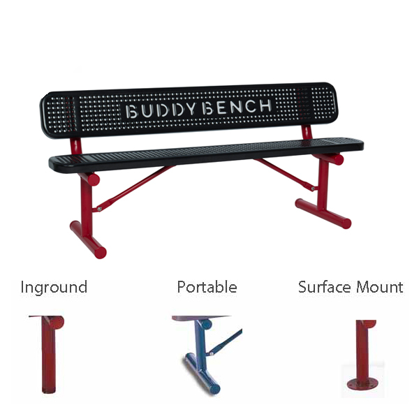 6 foot Outdoor BUDDY BENCH – Signature Series