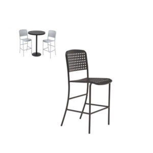 Outdoor Bar Chair - with back - without arms - Hanna Collection