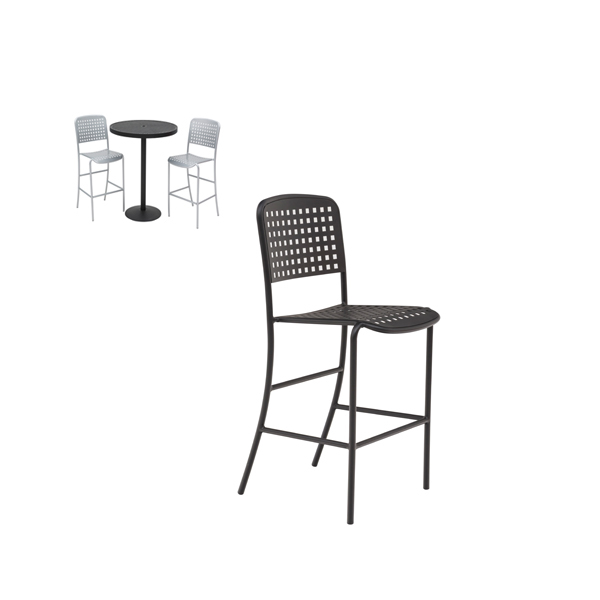 Outdoor Bar Chair – with back – without arms – Hanna Collection