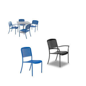 Outdoor Arm Chair - Large Square Dining Chairs - With and Without Arms - Hanna Collection