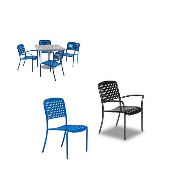 Outdoor Arm Chair – Large Square Dining Chairs – With and Without Arms – Hanna Collection