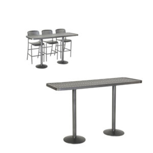 Outdoor Community Tables - Bar Height - Hanna Collection