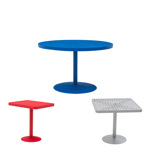 Round and Square Outdoor Pedestal Tables – Hanna Collection