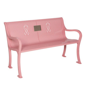 Breast Cancer Awareness Memorial Outdoor Bench