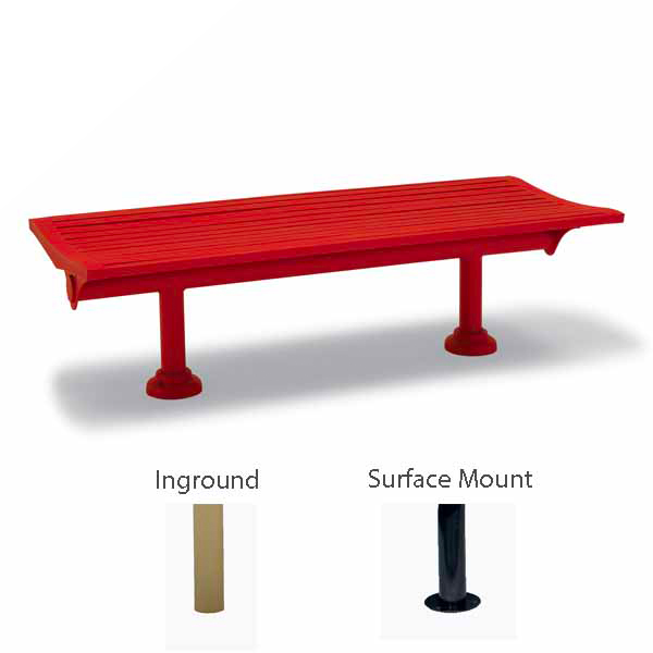 6' Outdoor Bench without Back, without Arms - Burns Harbor Collection