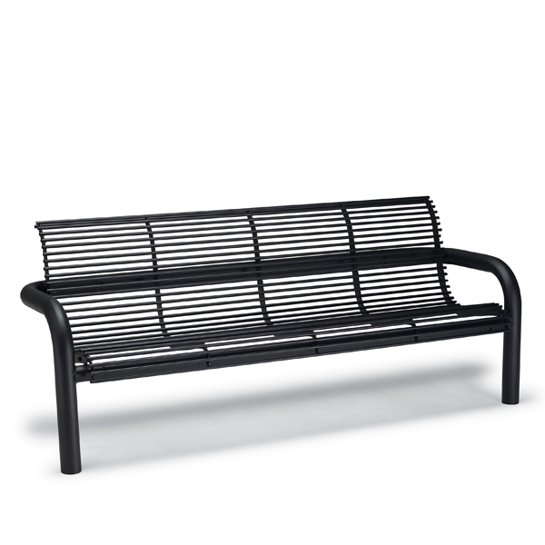 6′ Outdoor Bench with Back, with Arms – Camden Collection – Inground