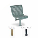 Concave Outdoor Bench - 15 Degree Single Seat with Back - City Limits Series