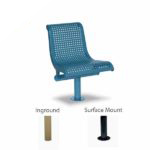 15 Degree Convex Single Seat with Back Outdoor Bench - City Limits Series