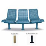 15 Degree Convex 3-Seat with Back Outdoor Bench - City Limits Series
