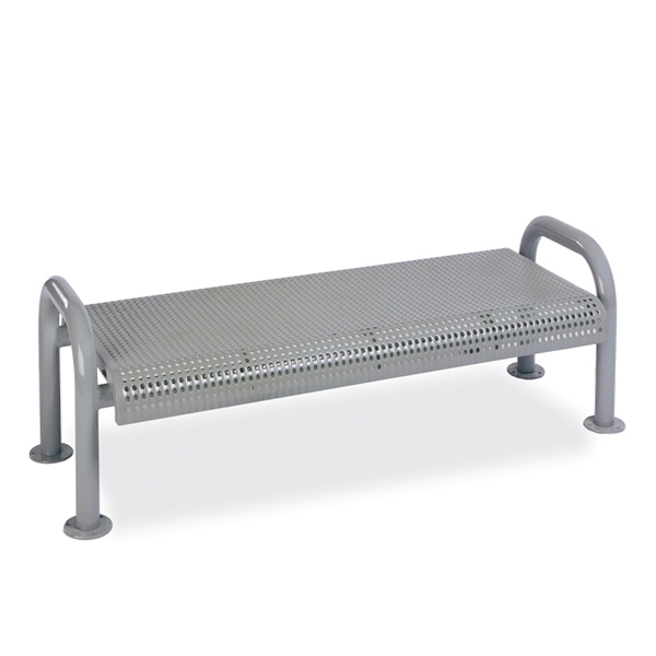 4 foot or 6 foot Outdoor Bench without Back – Contemporary Series – Portable/Surface Mount