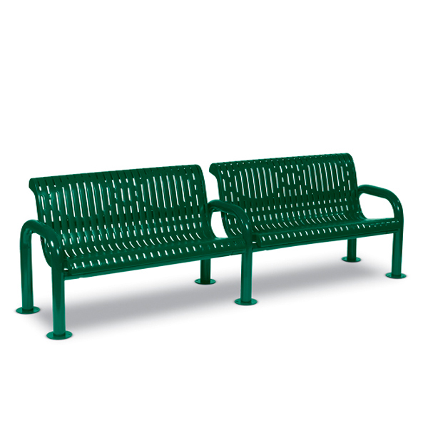 8 foot Outdoor Bench with Back – Contemporary Series – Portable/Surface Mount