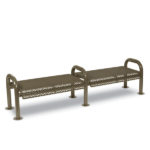 8 foot Outdoor Bench without Back - Contemporary Series - Portable/Surface Mount