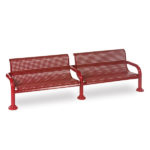 8 foot Outdoor Bench with Back - Contemporary Series - Inground
