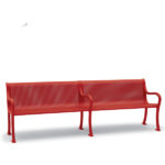 8 foot Outdoor Bench with Back - Covington Collection - Portable/Surface Mount