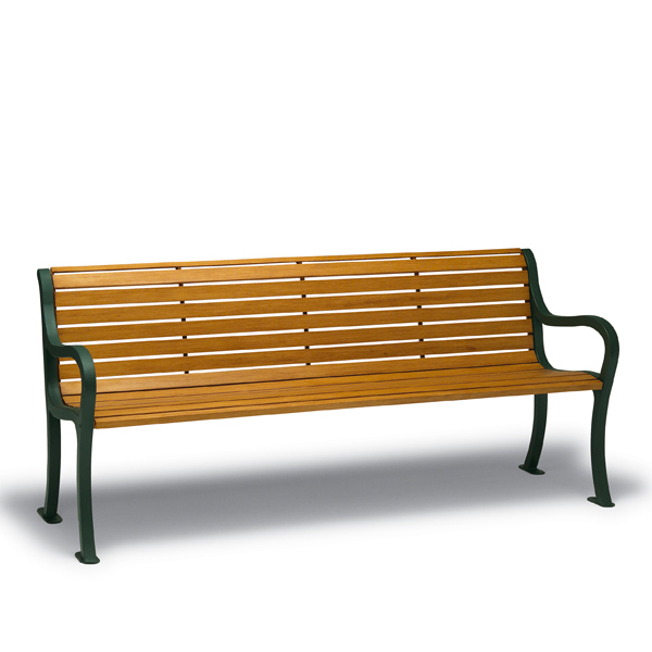 4 foot & 6 foot Outdoor Benches with Back – Covington Collection – Portable/Surface Mount