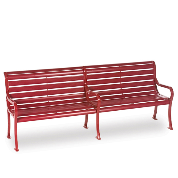 8 foot Outdoor Bench with back – Courtyard Series – Portable/Surface Mount