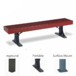 Outdoor Bench without Back - Single - Designer Series