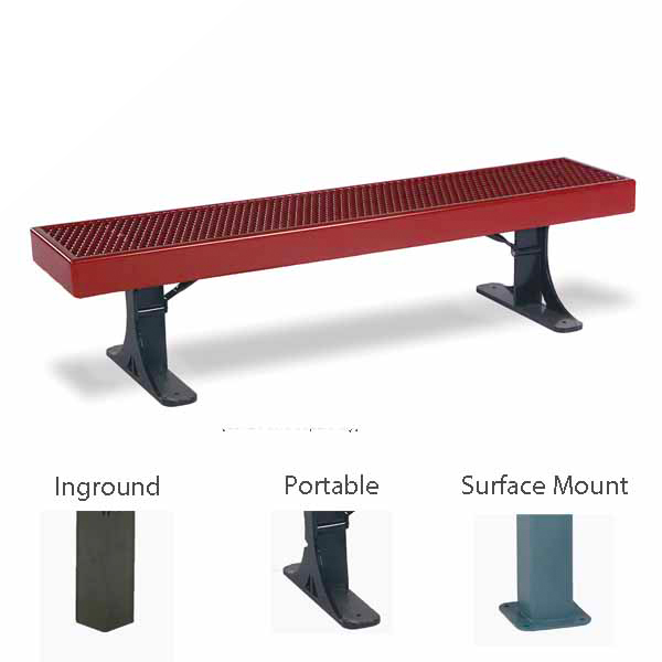 Outdoor Bench without Back – Single – Designer Series