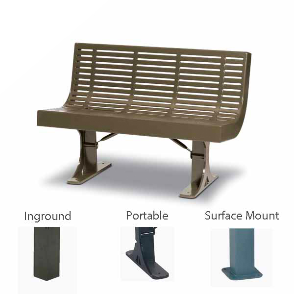 Outdoor Bench with Back – Designer Series