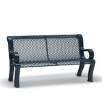 4 foot and 6 foot Outdoor Bench with Back in customizable colors