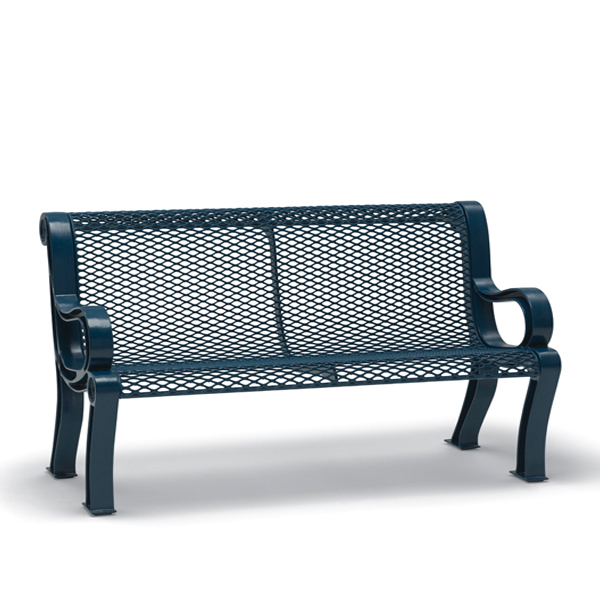 4 foot and 6 foot Outdoor Bench with Back – Estate Series