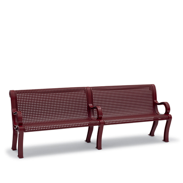 8 foot Outdoor Bench with Back – Estate Series