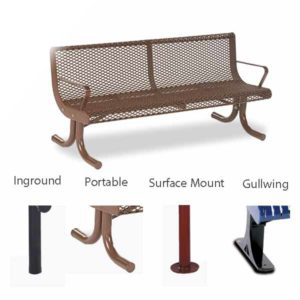 4 foot and 6 foot Contour Outdoor Benches - Prestige Series