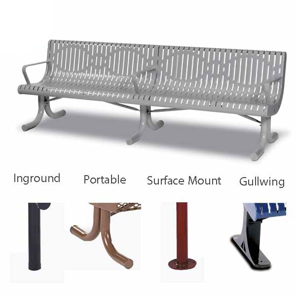 8 foot Contour Outdoor Benches – Prestige Series