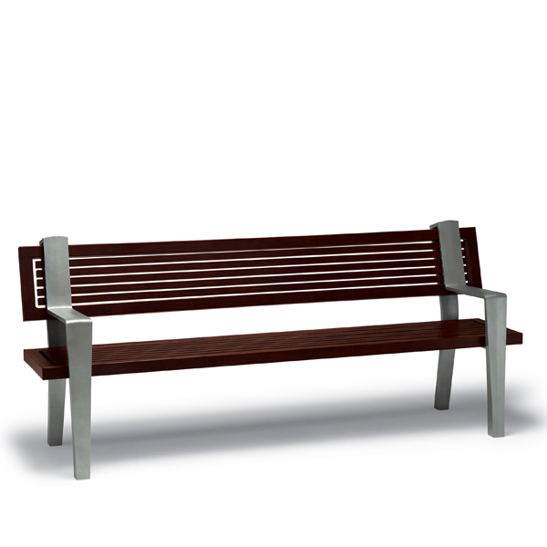 6 foot Outdoor Bench with Back, with Arms – Rockport Collection