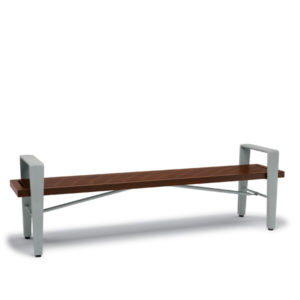 6 foot Outdoor Bench without Back, with Arms - Rockport Collection