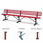 "10 foot and 15 foot Outdoor Benches with back - 10"" Wide Seats - Signature Series"