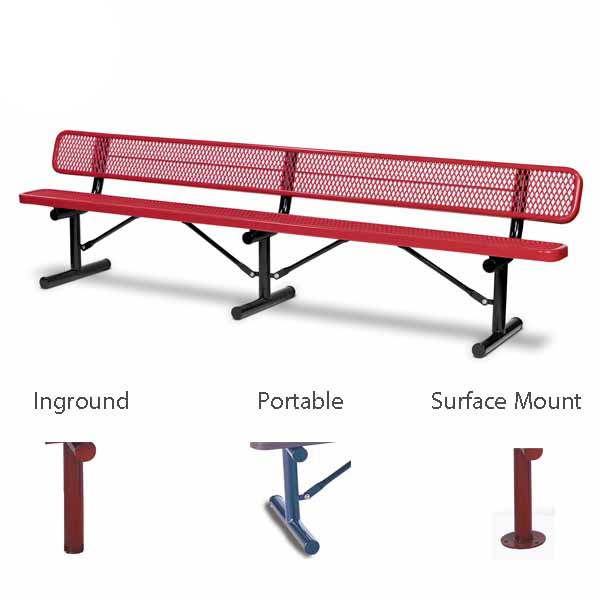 10 foot and 15 foot Outdoor Benches with back – 10″ Wide Seats – Signature Series