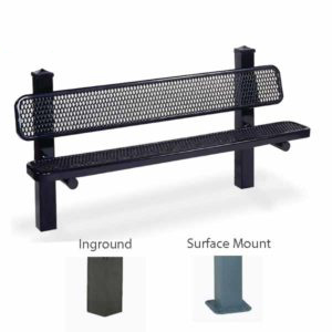 Outdoor Pedestal Benches - Signature Series