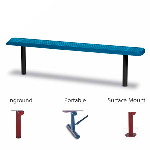 6 foot and 8 foot Outdoor Benches without back – 10″ Wide Seats – Signature Series